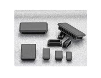 Black Rectangular Tubing Insert 241116 Rectangle End Cap