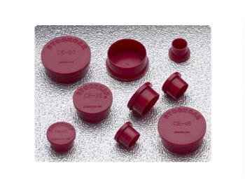 """1.463"""" x 0.562"""" Maroon Electrical Connector Cap - CE-50- 2000/Box"""