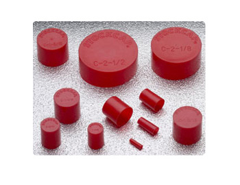"3.000"" x 1.000"" Red End Cap - C-3- 300/Box"