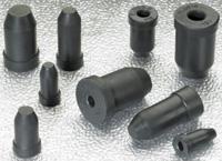 "2.020"" - 2.300"" x 0.750"" Black Rubber Plug - 25/Bag"