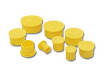 Yellow Plastic Electrical Plugs 144325 Poly Plug 50 Bag