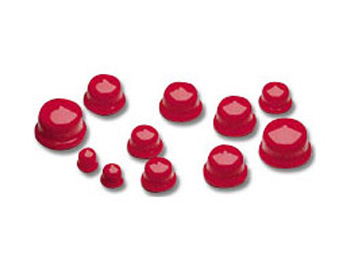"0.380"" x 0.288"" Red Vinyl Plus Plug  - SR2 - 100/Bag"