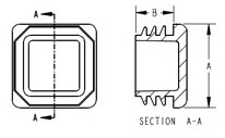 Square Tubing Inserts - Diagram